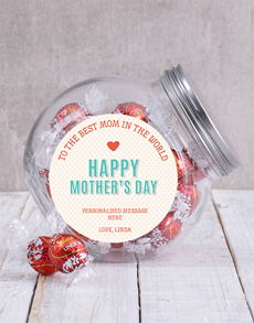 gifts: Personalised Best Mom In The World Candy Jar!