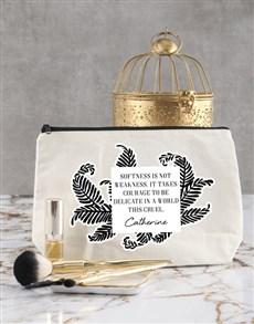 gifts: Personalised Courage Cosmetic Bag!