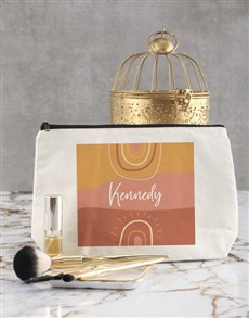 gifts: Personalised Sunshine Cosmetic Bag !