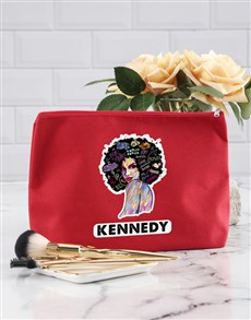 gifts: Personalised Graffiti Girl Cosmetic Bag!