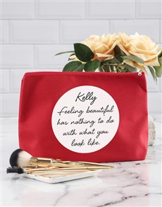 gifts: Personalised Feel Beautiful Cosmetic Bag!
