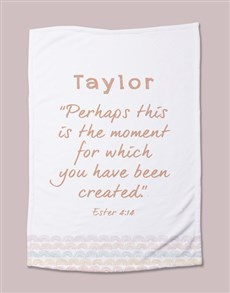 gifts: Personalised Moment Baby Blanket!
