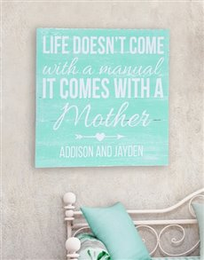 gifts: Personalised Life Comes With A Mom Wall Art!
