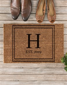 gifts: Personalised Initials and Date Doormat!