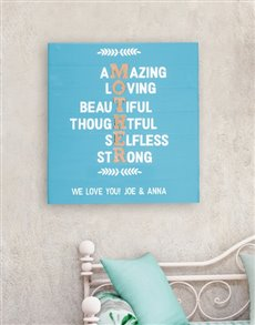 gifts: Personalised MOTHER Wall Art!