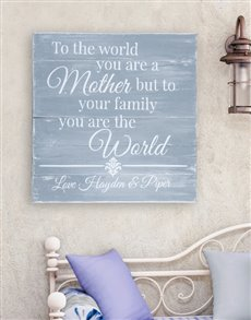 gifts: Personalised Mom is the World Wall Art!