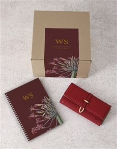 gifts: Personalised Red Purse And Notebook!