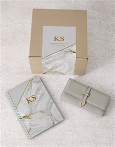 gifts: Personalised Grey Purse And Notebook!
