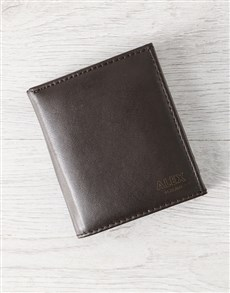 gifts: Personalised Trifold Brown Wallet!