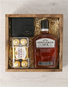 gifts: Personalised Whisky And Wallet Crate!