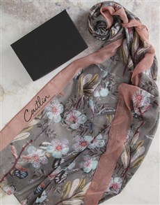 gifts: Personalised Meadow Dreams Scarf In Gift Box!