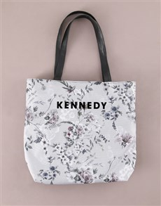 gifts: Personalised Whimsical Floral Print Tote Bag!