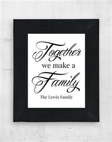 gifts: Personalised We Make Family Frame!