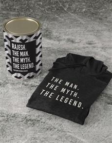 gifts: Personalised Black Legendary Man Hoodie!