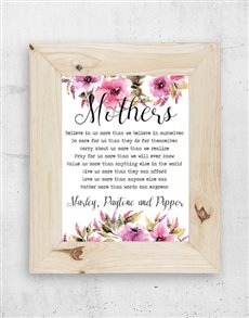 gifts: Personalised Floral Mom Frame!
