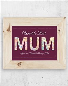 gifts: Personalised Best Mum Frame!