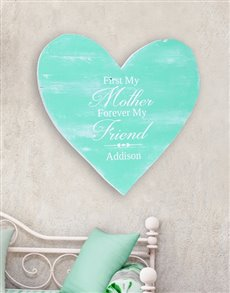gifts: Personalised Mom Forever Wooden Heart!
