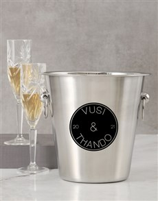 gifts: Personalised Two Name Ice Bucket!