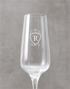 gifts: Personalised Royal Monogram Champagne Flute!