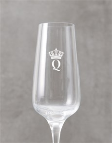 gifts: Personalised Crown Monogram Champagne Flute!