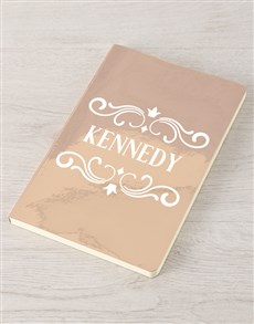 gifts: Personalised Rose Gold Name Notebook !