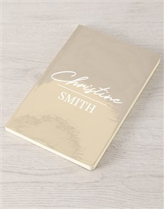 gifts: Personalised Name And Surname Gold Notebook !