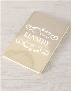 gifts: Personalised Name In Design Gold Notebook !