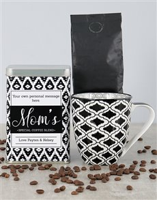 gifts: Personalised Black Diamond Moms Blend Coffee Tin!