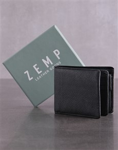 gifts: Personalised ZEMP Black James Mens Wallet!