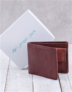 gifts: Personalised Chestnut Jinger Jack Max Mens Wallet !