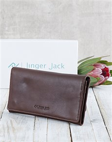 gifts: Personalised Brown Jinger Jack Claire Ladies Purse!