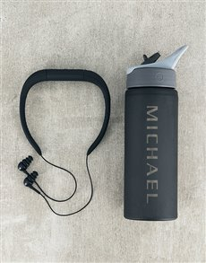 gifts: Personalised Water Bottle and MP3 Player!