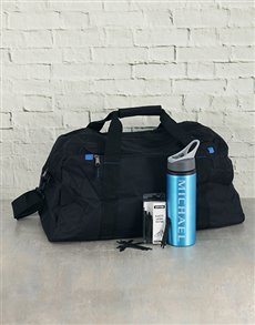gifts: Personalised Water Bottle Laces and Gym Bag!