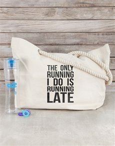 gifts: Personalised Running Late Beach Bag Kit!