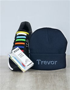 gifts: Personalised Beanie and Silicon Laces!