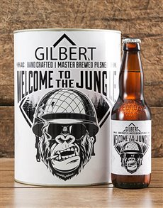 gifts: Personalised Welcome Jungle Craft Beer!