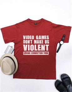 gifts: Personalised Red Video Games T Shirt!