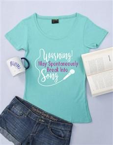 gifts: Personalised Aqua Break Into Song Ladies T Shirt!
