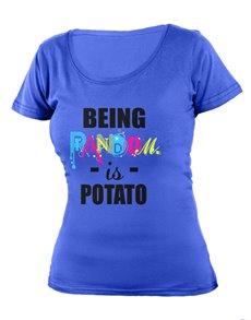 gifts: Personalised Blue Being Random Ladies T Shirt!