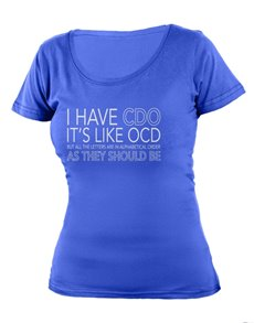 gifts: Personalised Blue CDO Ladies T Shirt!