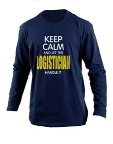 gifts: Personalised Navy Logistician Longsleeve T Shirt!