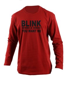 gifts: Personalised Red Blink Longsleeve T Shirt!