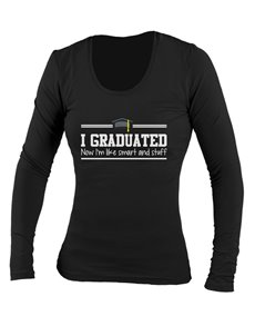 gifts: Personalised I Graduated Ladies Longsleeve T Shirt!