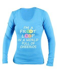 gifts: Personalised Froot Loop Ladies Longsleeve T Shirt!