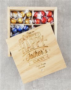 gifts: Personalised Happy Fathers Day Lindt Tray!