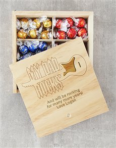 gifts: Personalised My Dad Rocks Lindt Tray!
