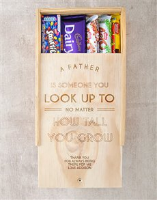 gifts: Personalised  Look Up To Choc Crate!