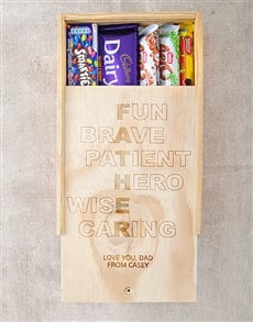 gifts: Personalised Father Choc Crate!