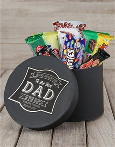 gifts: Personalised Best Dad Choc Hat Box!