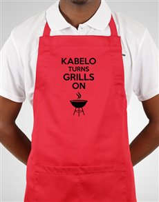gifts: Personalised Turns Grills On Apron!